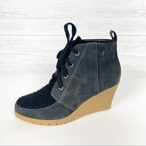 Nautica • Embayed Lace Up Wedge Ankle Booties